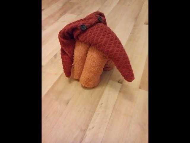 DIY Handtuch Origami Handtücher falten: Elefant towel fold elefant