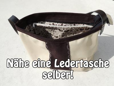 DIY | Ledertasche Handtasche selber nähen | Nähen für Anfänger | Tutorial