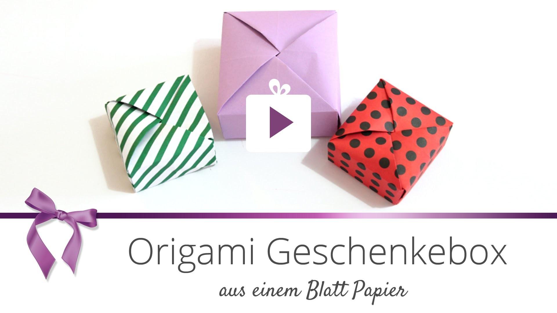 [DIY] Origami Geschenkebox | DANATO