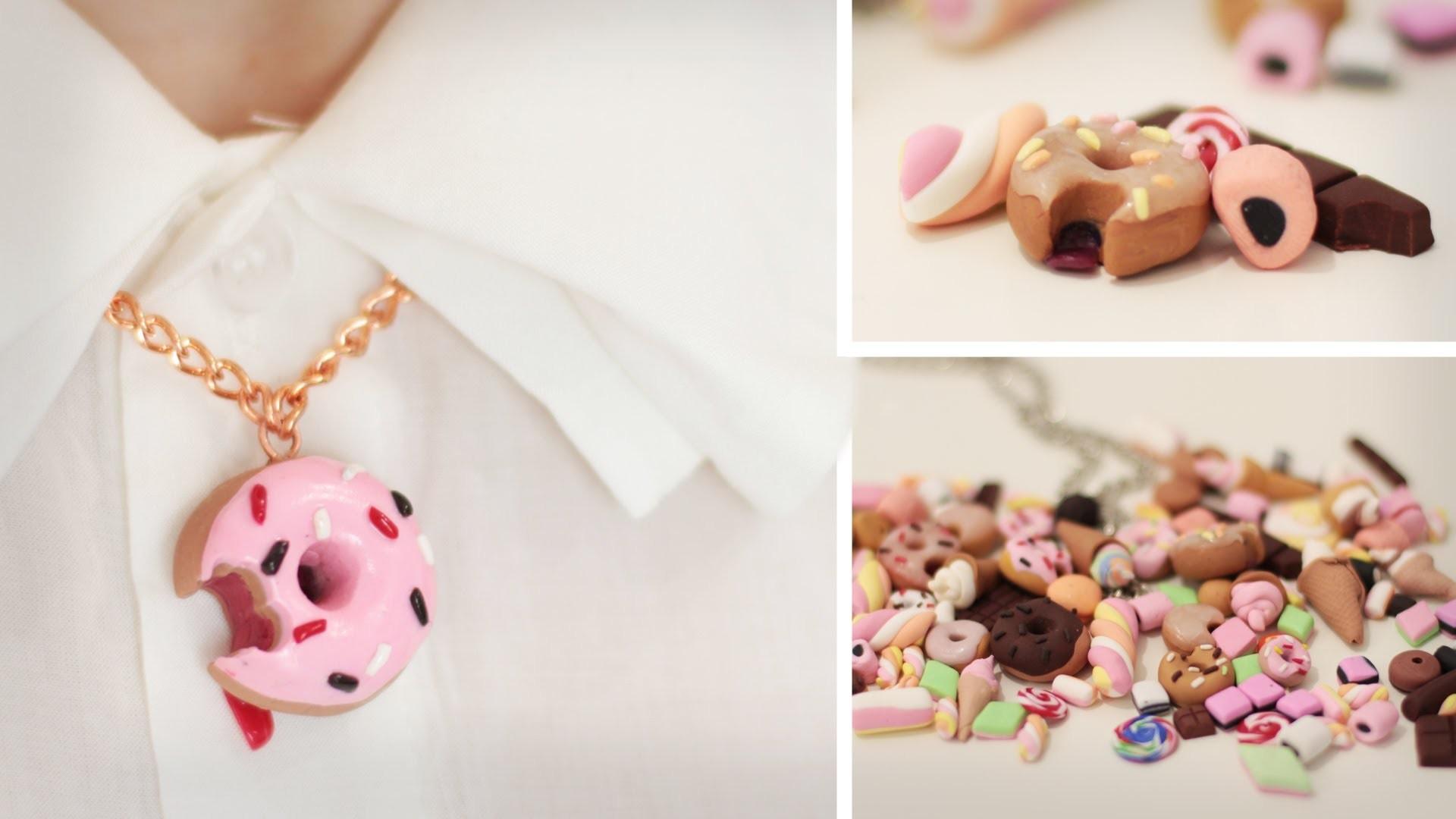 DIY Süßes aus Fimo - Donut, Eis, Schoki, Marshmallows, Haribo - für Ketten, Handys - Cabochons