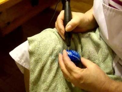 Eier ritzen - Kunsthandwerk - Ostern - Handarbeiten  - Basteln