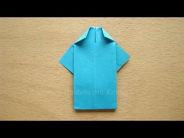 Falten mit Papier: Hemd falten - Einfaches Origami z.B. als Vatertagsgeschenk