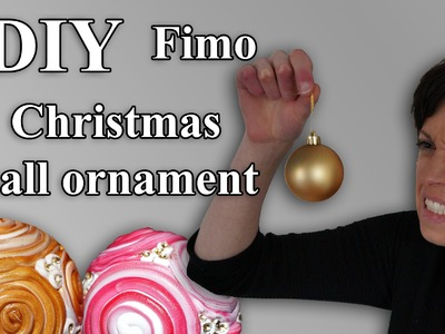 FIMO Christbaumkugeln: Polymer Christmas ball ornament - Tutorial [HD.DE] (EN-Sub)