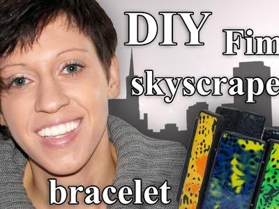 FIMO Skyscraper Armband: Polymer Clay Mokume-Gane Bracelet - Tutorial [HD.DE] (EN-Sub)
