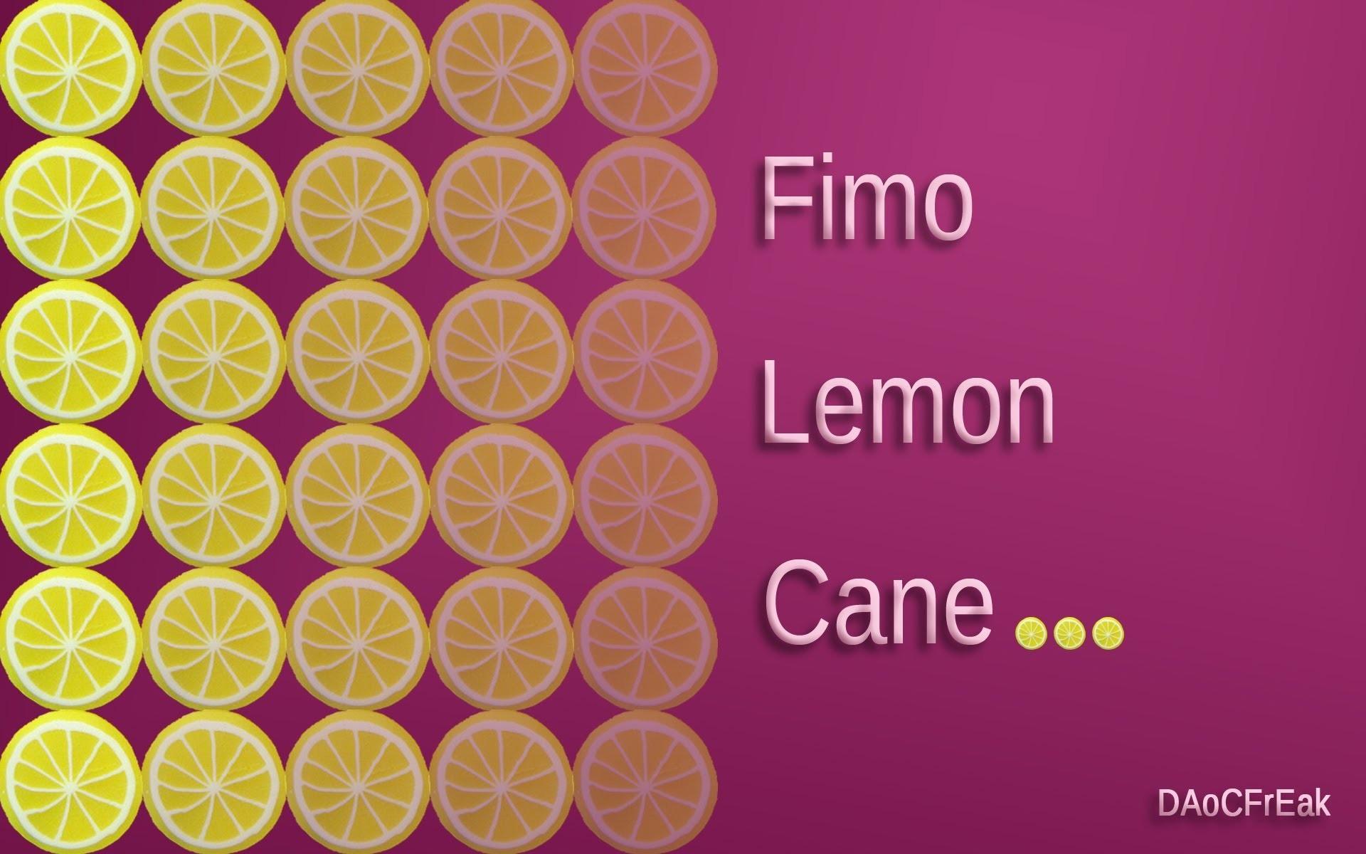 FIMO Zitronen-Cane: Polymer lemon - Tutorial [HD.deutsch]