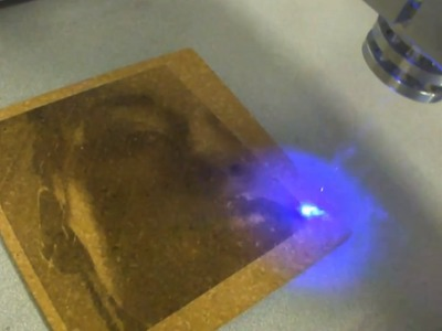 Fotogravur mit Laser : Low cost laser engraver. DIY Blu ray CNC Router