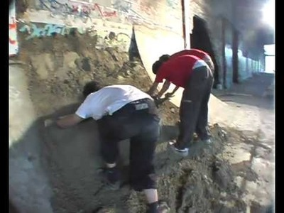 Ghetto concrete illegal skatepark skatepark aus beton DIY selber bauen machen