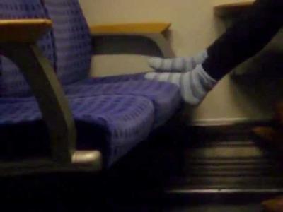 Girl socks im zug 5