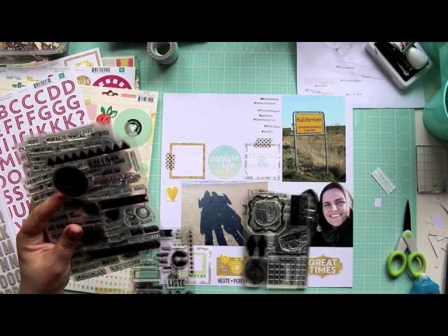 How To: 4 Scrapbooking Layouts (mit Klartext-Stempeln)
