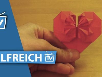 How to: Profi Origami Herz falten - 3D Origami Herz falten wie Profis Anleitung