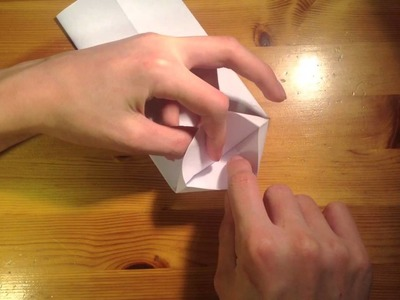 Kaufmannstüte basteln. Origami Tüte falten