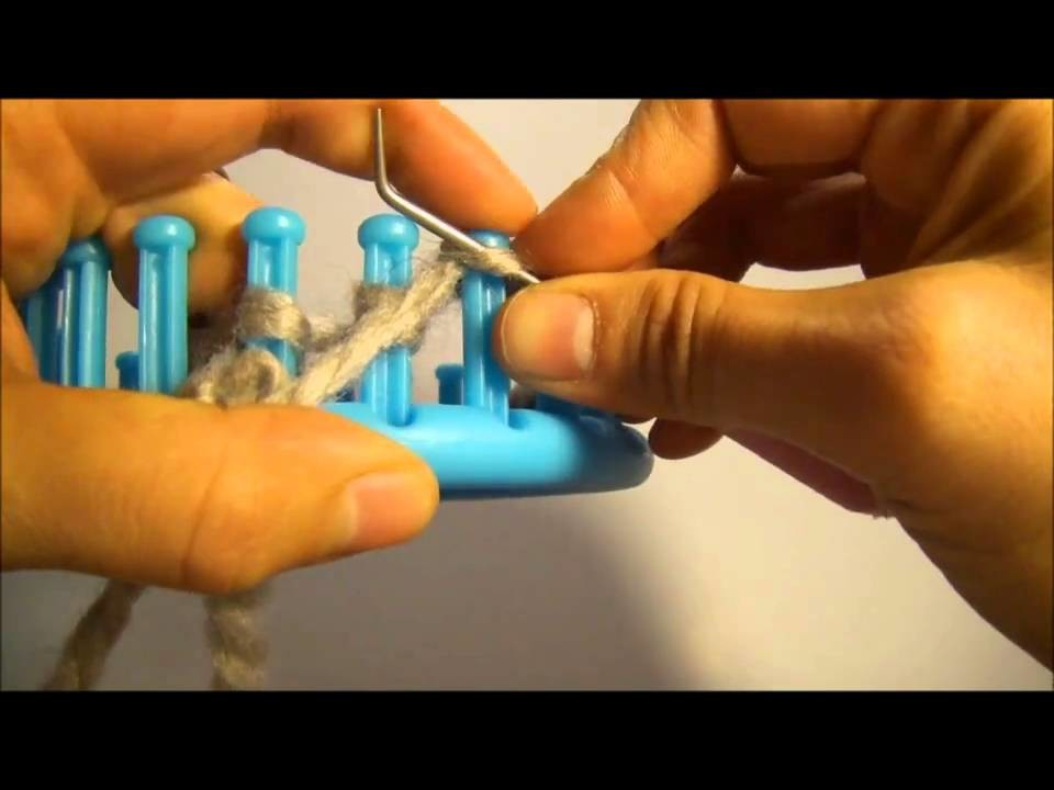 Knitting Loom (Strickring) - linke Maschen (auch für Serenity Loom)