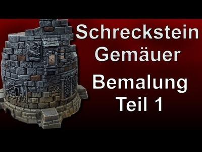 Lets craft # 55 Warhammer Schreckstein Gemäuer Bemalung 1