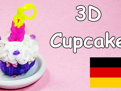 Loom Bandz Anleitung Deutsch Cupcake (Rainbow Loom Deutsch Loom Bands 3D)
