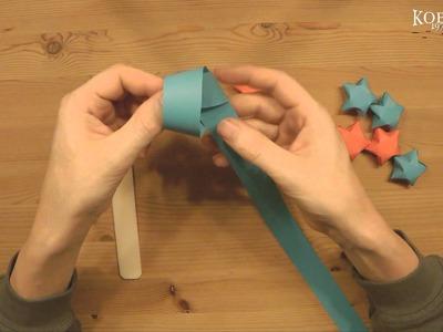 Lucky Star, große 3D Sterne, Dekoration Origami Luckystars