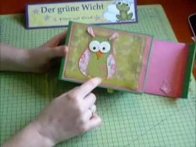 MärzHerz Eule Scrapbook Fotoalbum