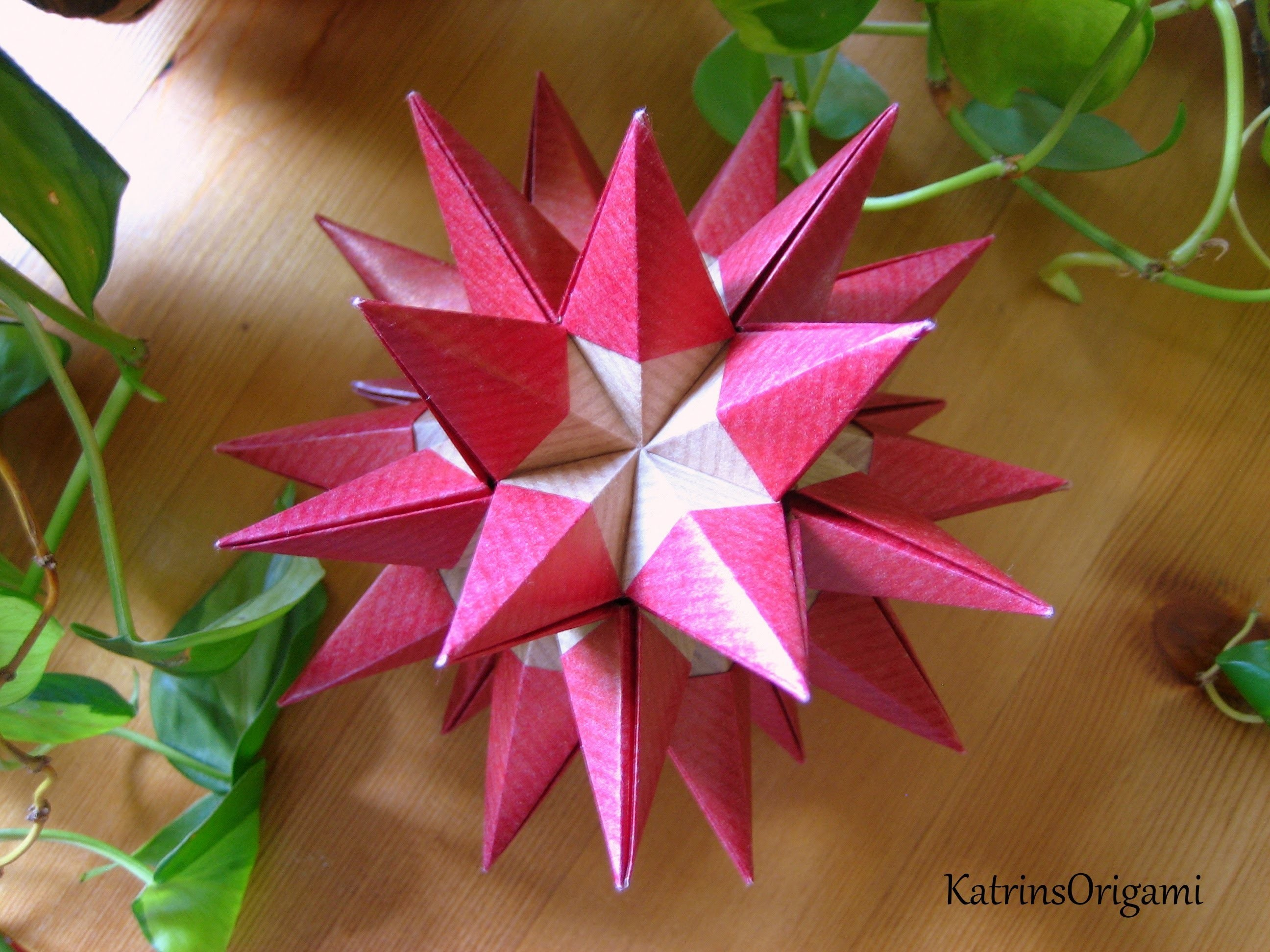 Origami ɛ♥ɜ Resplandor ɛ♥ɜ Kusudama