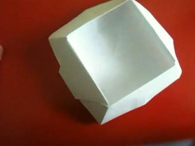Origami Korb falten - Faltanleitung