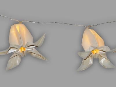 Origami Lampion Blume - Faltanleitung Lichterkette (Live erklärt)