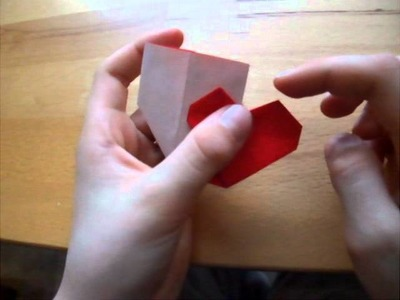 Origami mit Christian: doppeltes Herz. double heart
