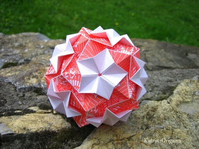 Origami ✿⊱╮ Regenbogen ✿⊱╮ Kusudama