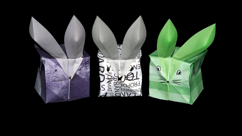Osterhase Origami - Faltanleitung [HD.DE] (Live erklärt)
