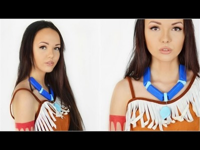Pocahontas Make Up, Kette DIY & Kostüm | Fasching, Karneval, Disney Prinzessin
