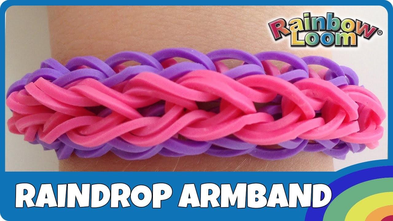Rainbow Loom Raindrop-Armband - deutsche Anleitung
