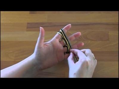 Schlauchschal mit den Fingern stricken - Türchen 13