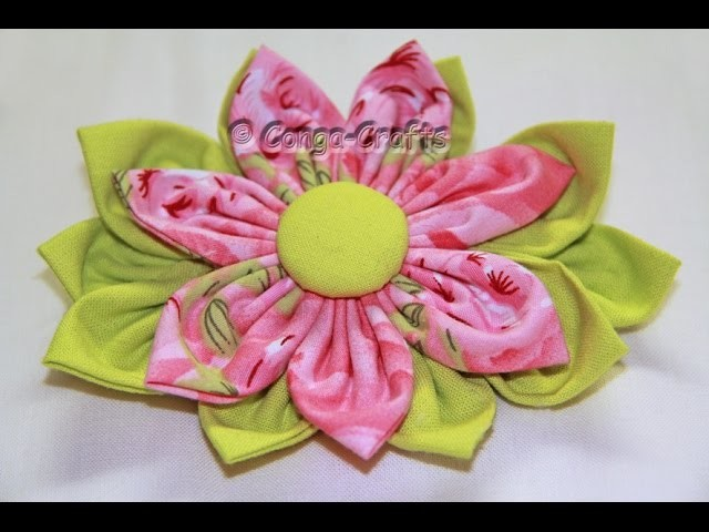 Stoffblume selbst gemacht DIY