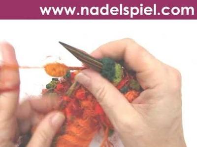 Stricken lernen * Baskenmütze aus Pomponwolle