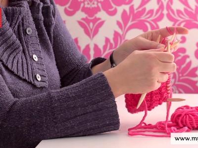 Stricken lernen mit den Omas - DIY Beanie Mütze für Anfänger 4.7: Linke Maschen stricken