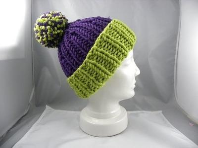 Stricken - Zipfelmütze aus HATNUT cool mit 2 Farben
