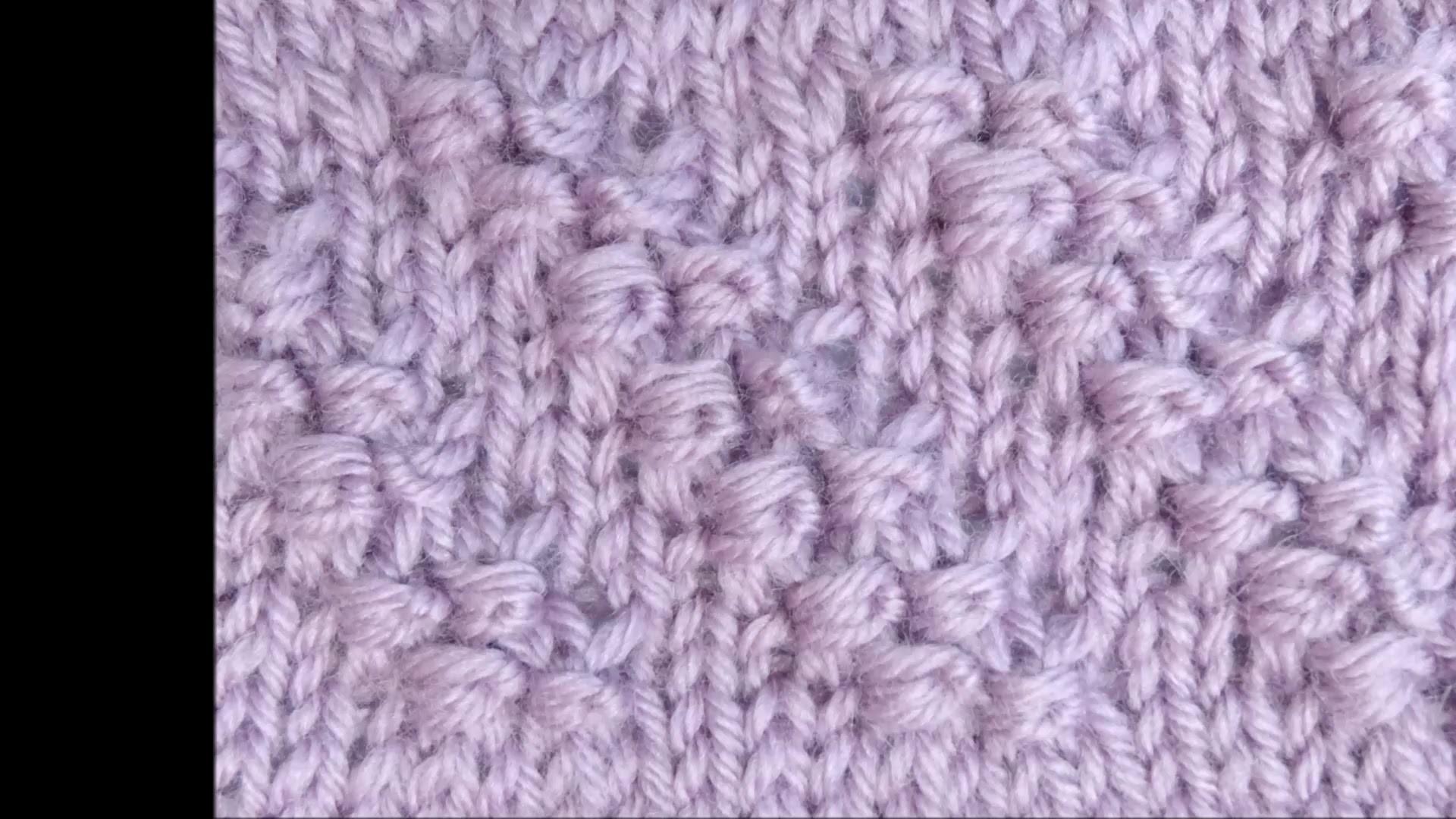 Strickmuster Diagonale Knoten mit Wickelmaschen - Knitting Diagonal Knots with Wrapped stitches 2