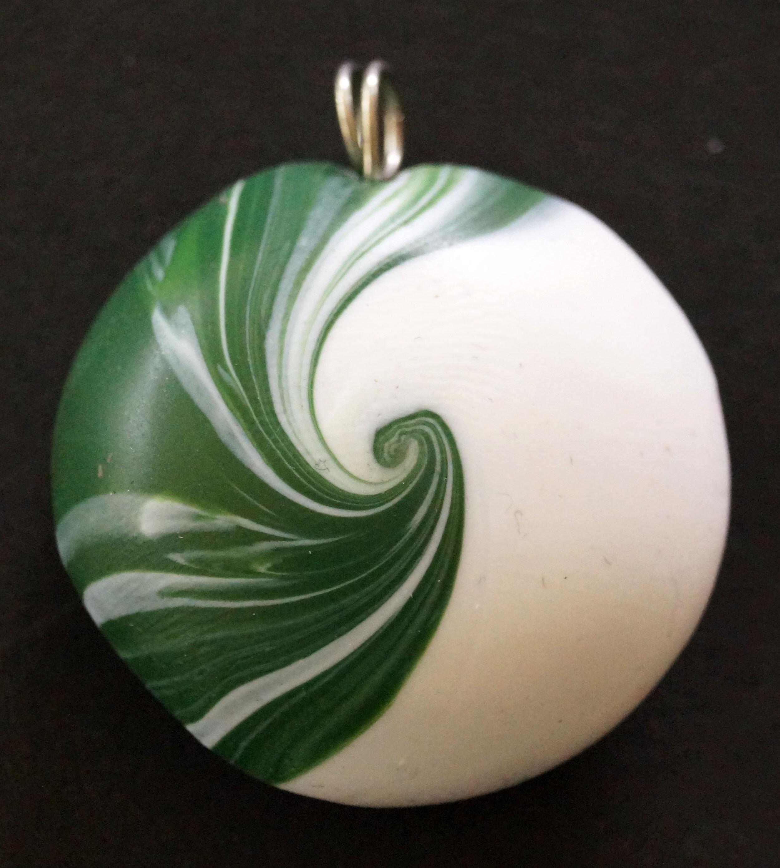 Swirl Perlen II , Polymer Clay Swirl Beads