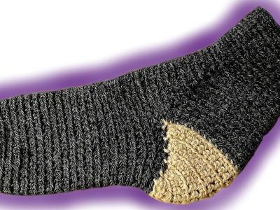 Toe Up Socken häkeln lernen [Fortgeschrittene]
