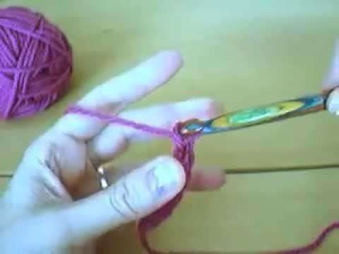 Tunesisch Häkeln_Nadel+Faden halten_Luftmaschen * Tunisian Crochet_hold yarn+hook_chain