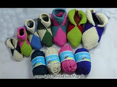 Tunesisch Häkeln - Puschen in jeder Größe - hatnut-Wolle - Veronika Hug
