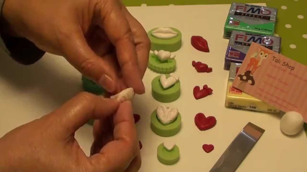 """1(Tuto Fimo) Herz MOLDS vom """" Tali Shop"""" ,Polymer Clay,Schmuck Design,Kreativ Deko"""
