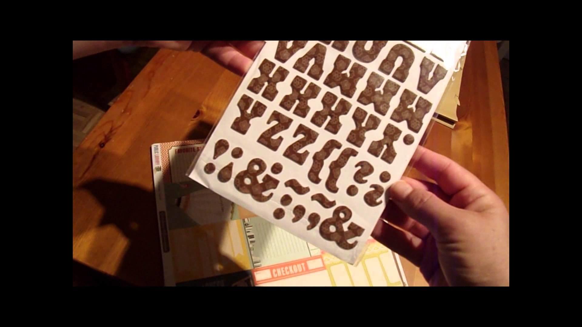 Auspacken Oktoberkit Scrapbook Werkstatt * PamiStyle *