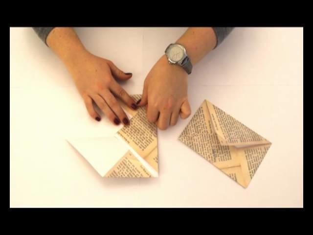 Briefumschlag falten #4 - Motiv Buchseite