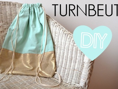 DIY Anleitung Turnbeutel Rucksack einfach selber machen - Nähen für Anfänger