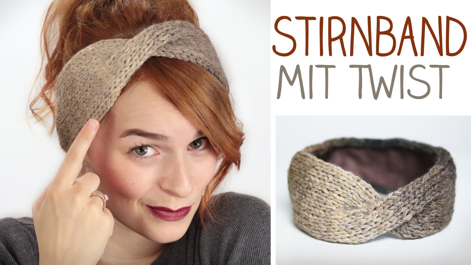 diy stirnband mit twist stricken f r anf nger u modefreaks gef ttert im winter. Black Bedroom Furniture Sets. Home Design Ideas