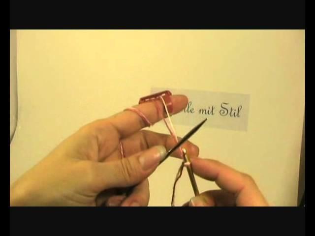 Double Knitting Anschlagen