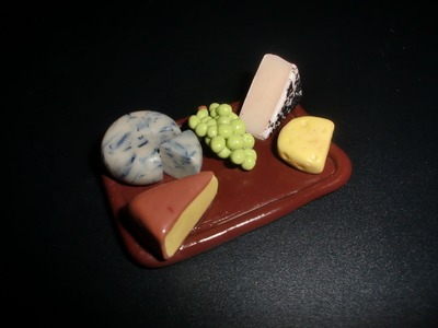 FIMO Käseplatte: Polymer Cheese Board - Tutorial [HD.deutsch] (EN-Sub)