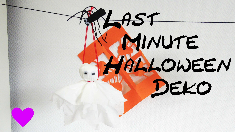 Halloween Deko selber basteln Anleitung DIY Geist Gespenst Tutorial | How To