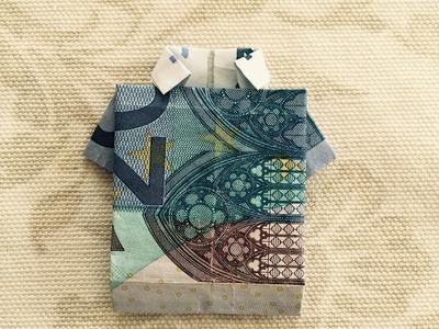Hemd falten - Einfaches Shirt aus Geld falten - Geschenk falten - Origami Geschenke