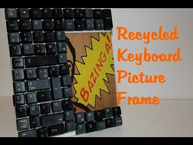 """I see dead pixels!"" Recycled Keyboard Picture Frame! DIY Nerdy Geschenke. Gifts!"