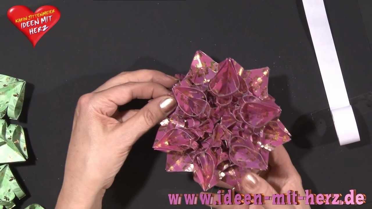 Ideen mit Herz - Origami Stern - Kristallstern