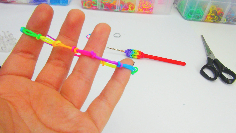 Loom Bands Knotenarmband. Knot Bracelet Rainbow Loom Tutorial